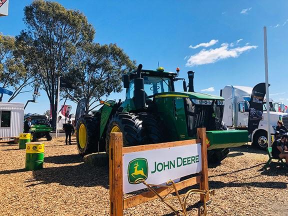 The John Deere 9570R Scraper Tractor stole the show