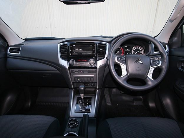 The Mitsubishi Triton's interior