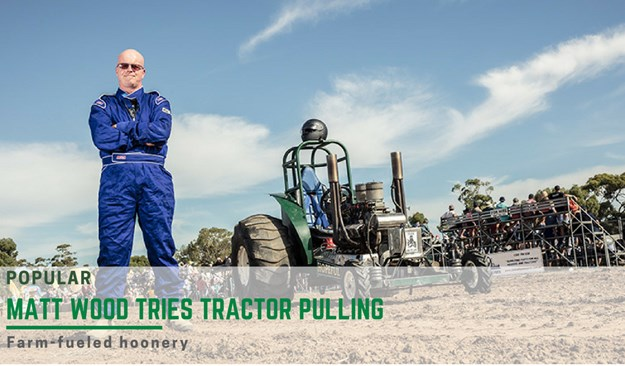 Woodsy goes tractor pulling