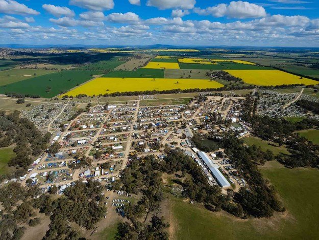 Henty Machinery Field days 2019 from the sky