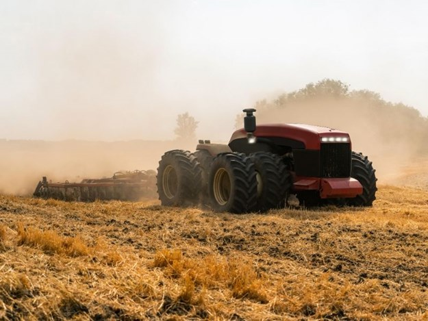 This autonomous tractor, and technologies like it, is becoming more popular. Image courtesy Alamy