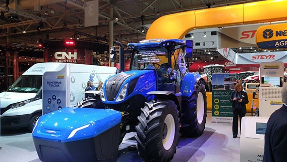 The methane powered New Holland tractor