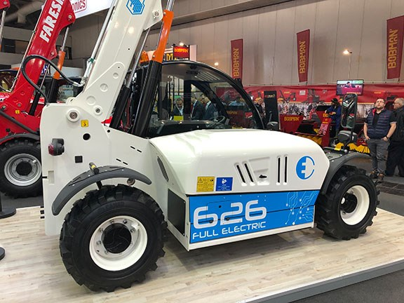 The Farein electric 6.26 telehandler