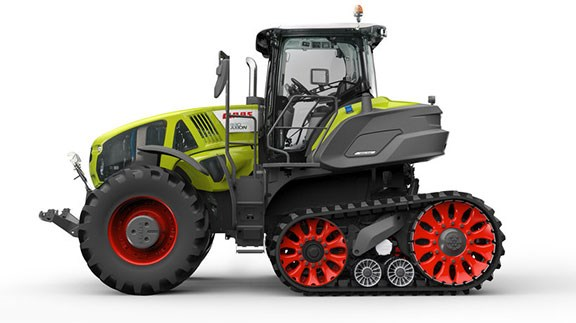 The Claas Axion 960 TT is stunning