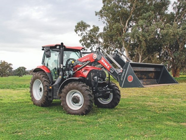 The Case IH Maxxum 135 CVT working