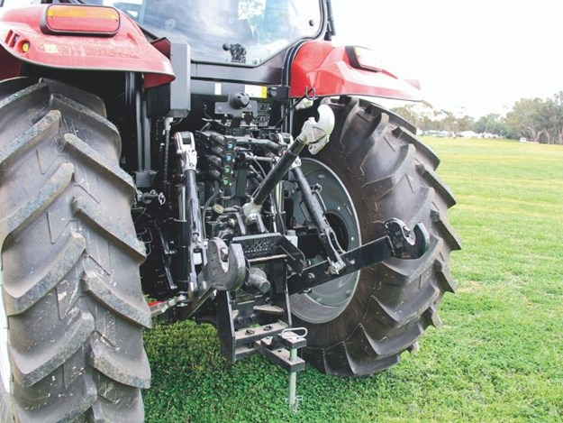 The rear of the Case IH Maxxum 135
