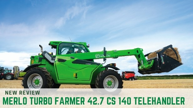 MERLO TURBO FARMER 42.7 CS 140 TELEHANDLER review