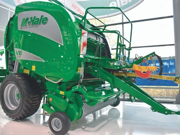 McHale's V6750 round baler has a high capacity pick up