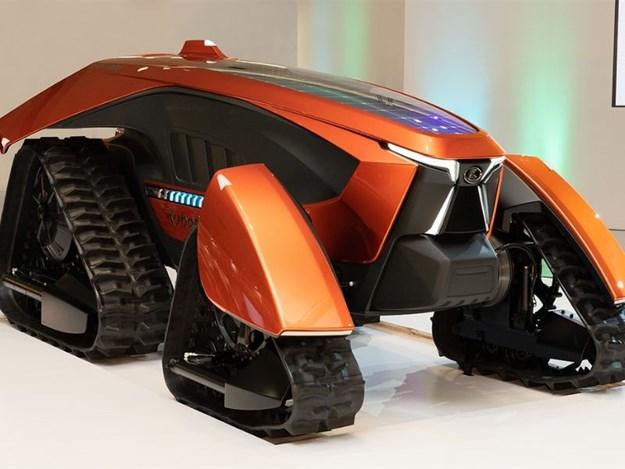 The futuristic Kubota concept autonomous tractor