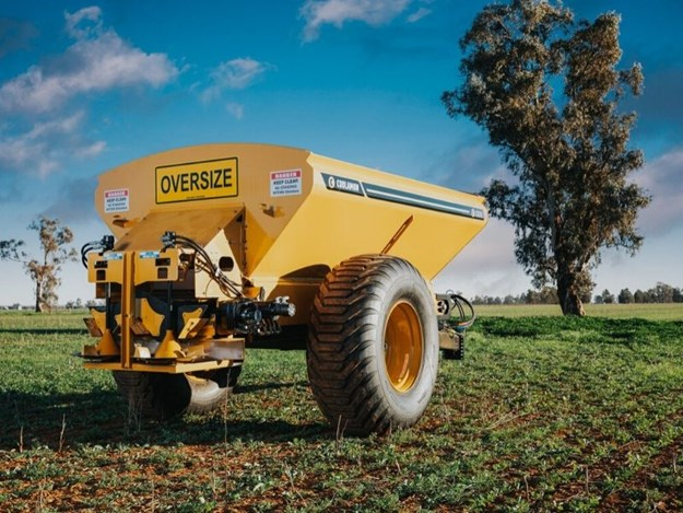 The range of single axle Coolamon CSC Compact Spreaders start with the 5500 litre and go up to the 8500 litre unit.