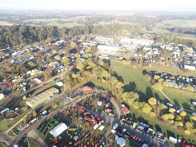 Farm World covers up to 40 hectares of exhibitor displays at the Lardner Park site