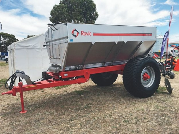 The new Rovic Spreader on display at a field day
