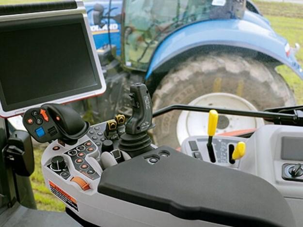 Inside the Kubota M7-2 interior
