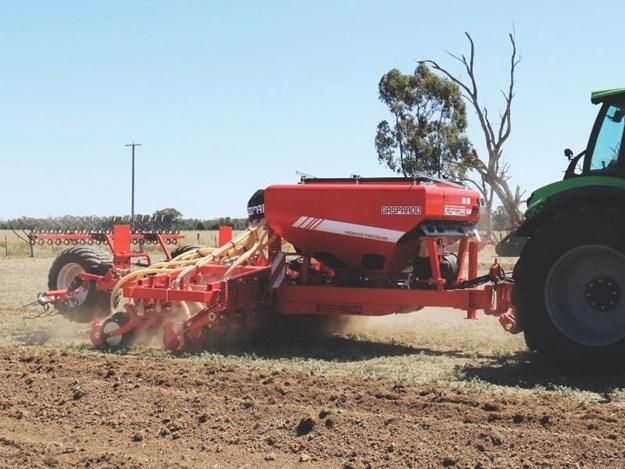 Maschio Gaspardo Gigante pressure drill has been redesigned to handle undulating terrain