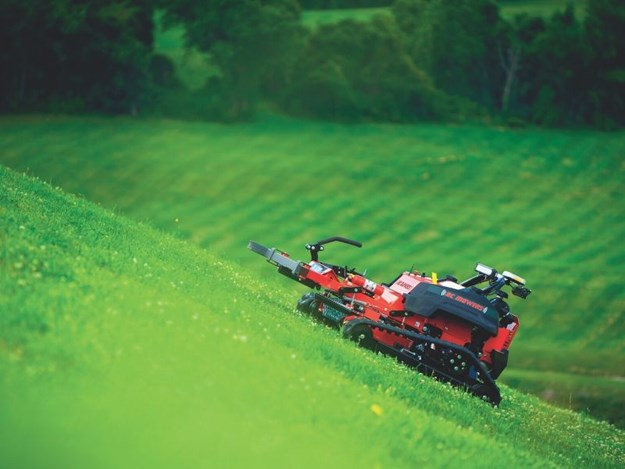 The RC Mower TK-52XP mower can handle slopes up to 50 degrees
