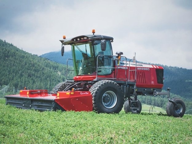 Massey Ferguson says the new features help process a crop through the mower conditioner quickly for better windrow formation and less leaf damage