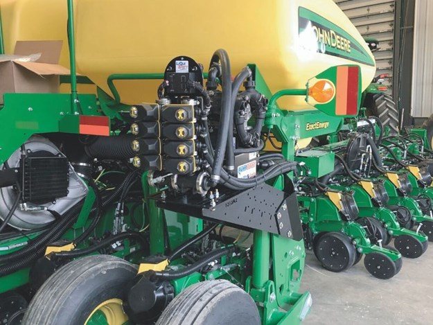 The LiquiShift system allows operators to vary their seeding speed while improving accuracy