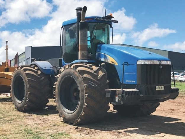 Titan says the low side wall tyres help reduce road lope and soil compaction