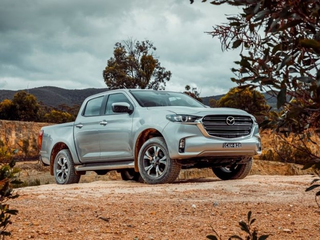 The new Mazda BT-50 front on