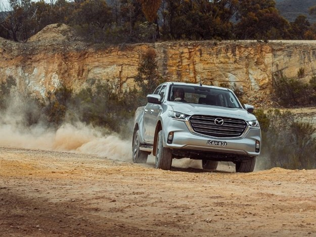 The new Mazda BT-50 driving off-road