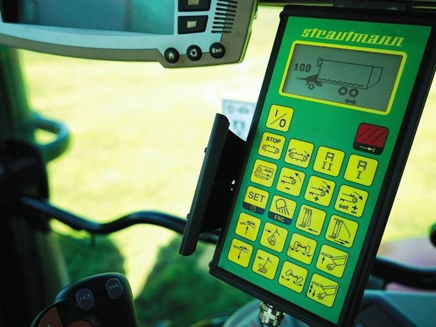 The Strautmann in-cab controller is simple to use