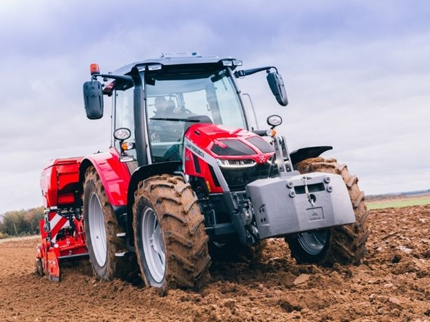 The new Massey Ferguson 5 Series front on