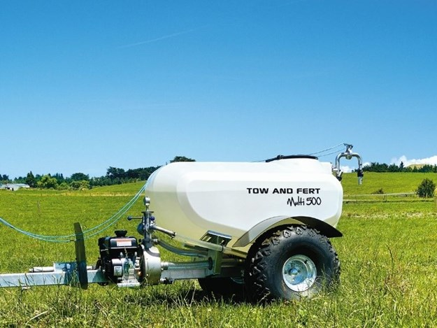 The Tow and Fert Multi 500, loaded with features to help grow grass