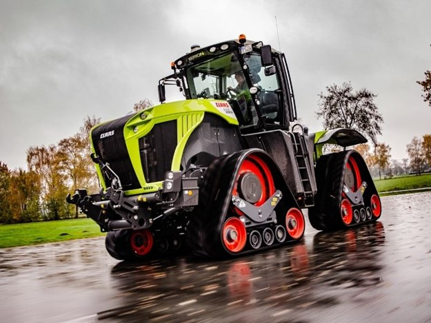 Claas Xerion 5000 TS being tested at the Claas facility in Germany