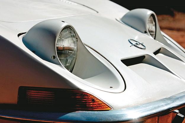 1970 Opel GT headlights