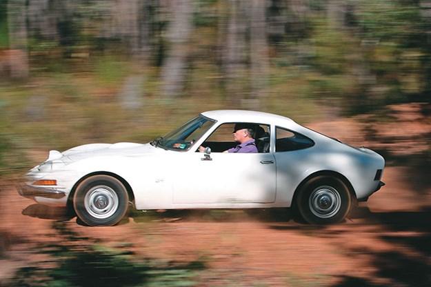 1970 Opel GT driving