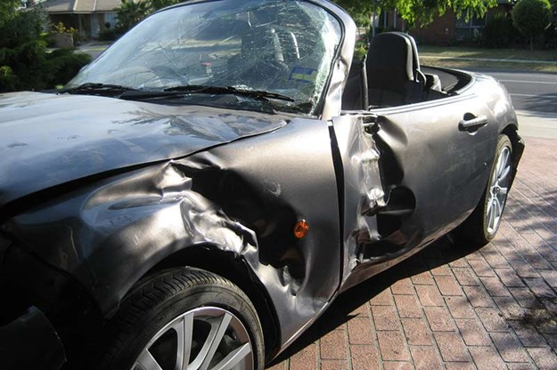 written-off Mazda Mx-5