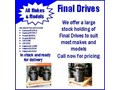 VARIOUS FINAL DRIVES MOST MAKES AND MODELS