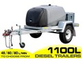 DIESEL TRAILER 1100L DIESEL FUEL TRAILER - FITTED WITH LOCKABLE PUMP BOX AND 10L WATER TANKS. [ON ROAD] [TFPOLY] [ATTFTRAIL] 1100L