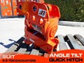 JB ATTACHMENTS HYDRAULIC POWER TILTING QUICK HITCH / EXCAVATORS TILTING HITCHES SUITS 5T+ COMPACT EXCAVATORS [JB055] [ATTBUCK]
