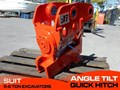 JB ATTACHMENTS EXCAVATORS HYDRAULIC POWER TILTING QUICK HITCH SUITS 5T+ COMPACT EXCAVATORS [JB055] [ATTBUCK] 5T+ Angle Tilting quick hitch