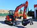 KUBOTA U57 5.5T EXCAVATOR KX57 KX057 FITTED WITH 724MM FLAIL MOWER [ATTSLASH][ATTMULCH][MACHKUBO] 724mm cutting width