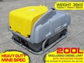 LOCKABLE & SECURE POLY DIESEL FUEL TANK 200L/ UNIT WITH MOUNTING FRAME [DM200MF] [TFPOLY] 200L
