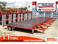 INTERSTATE TRAILERS 11 TON TAG TRAILER 11 TON Heavy Duty Tag Trailers - suit SKID STEER LOADERS / EXCAVATOR or Both [ATTTTRAIL]
