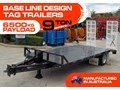 INTERSTATE TRAILERS 9 TON TAG TRAILER 9 TON Base line Design Tag Trailers - suit SKID STEER LOADERS / EXCAVATOR [ATTTTRAIL]