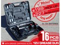 RHINO RECHARGEABLE - 12V GREASE GUN [TFGGUN] - [GG06] [FREE DELIVERY] 12V Rechargeable Grease Gun