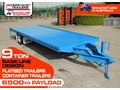 INTERSTATE TRAILERS 9 TON HEAVY DUTY CONTAINER TRAILERS / FLATBED TRAILERS - SUIT 20FT CONTAINER [ATTTTRAIL] 9 ton