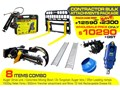 AUGER TORQUE [SPECIAL DEAL] GREASE GUN - CONTRACTORS BULK ATTACHMENTS PACKAGE [8 ITEMS] [ATTCOMBO] 8 items