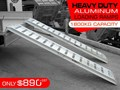 RHINO 1800.KG ALUMINIUM LOADING RAMPS - KANGA / DINGO / BOBCAT / SKID STEER LOADING RAMPS[ATTRAMP] 1800.kg