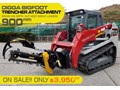 DIGGA BIGFOOT 900 HYDRAULIC TRENCHER - DIGGA 900MM DIG DEPTH SUIT SKID STEER LOADERS.[ATTTREN] BIGFOOT 900