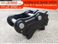 KUBOTA PP231-PP238 HYDRAULIC QUICK HITCHES SUITS 5 TO 7T EXCAVATORS