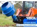 AUGER TORQUE 180L CEMENT MIXER BOWL (65MM ROUND EARTH DRILL / AUGER SHAFT)[ATTAUG] 180L
