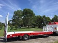 JP TRAILERS RED SINGLE AXEL PLANT TRAILER