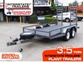 INTERSTATE TRAILERS 3.5 TON PLANT TRAILER 3.5 TON [Interstate Trailers] 3500kg PLANT TRAILERS suit BOBCAT / EXCAVATOR - 2500 KG Payload, 1860mm x 4000mm Floor space. [ATTPTRAIL]