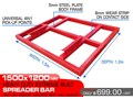 OTHER HEAVY DUTY EXTREME BUILT 1500 MM WIDTH LEVELLING BARS ATTACHMENTS [ATTBARS] / 1500MM X 1200MM SPREADER BARS 1500 mm