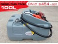 DIESEL UNITS 100L DIESEL FUEL TANK . LOW PROFILE [SQDN100] WITH 12V PUMP , LOCKABLE FUEL CAP [TFSLV] 100L